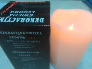 Dekoracyjna świeca ledowa wielokrotnego użytku z efektem migającego płomienia świecy typ LC2 - 2856226910