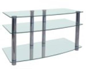 Szkłomal LCD VIII - Stolik pod telewizor LED | LCD - CHROMOWANE - 2829428743