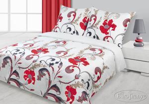 Pościel satynowa 140x200 Gabi Czerwona Classic Eurofirany - 2836273098