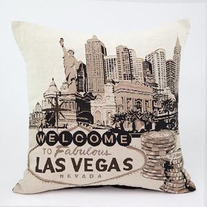 Poszewka dekoracyjna 45x45 Vegas 01 WELCOME TO LAS VEGAS Eurofirany - 2835592162