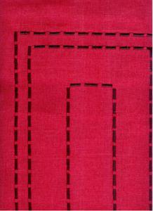 Obrus haftowany Bruna 35x170 czerwony Niska cena! - 2823058826