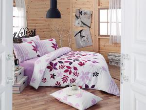 Pościel bawełniana 160x200 Nuty Lilac 6602 Exclusive premium Darymex - 2836276731
