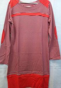 Koszula damska KO-076 rozmiar L w pasy czerwono bia - 2833879272