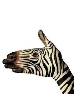 Koc narzuta dwustronna 160x200 z mikrofibry Zebra - 2836039315