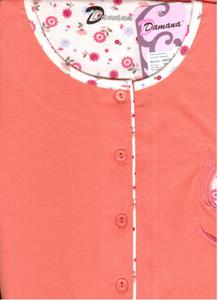 Koszula damska z krótkim rękawem D 674 158/100 M rozpinana morelowa Niska cena! - 2836881581