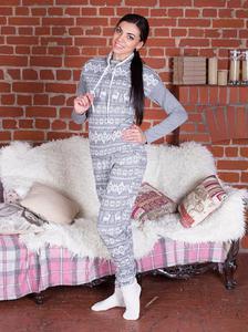 Piżama damska spodnie długie 561 rozmiar XL szare...