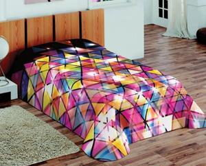 Koc akrylowy 155x220 3D Fluff 49 Mozaika Trójkątna - 2847008273