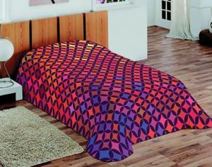 Koc akrylowy 155x220 3D Fluff 50 Mozaika Rombowa - 2837434893