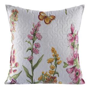 Poszewka dekoracyjna 40x40 Meadow kwiaty biała Eurofirany - 2838088187