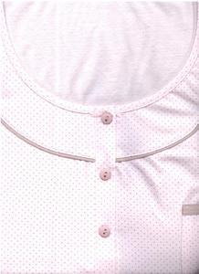 Koszula damska długa 017 M róż w kropki Luna - 2838088411