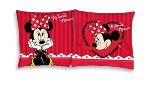 732aa2ae6218d Poszewka bawełniana 40x40 Myszka Mini Minnie Mouse czerwona paski serduszko  - 2863976016