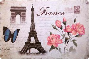 0ea7c5dd71542 Podkładka na stół 30x44 Paryż 1 Wieża Eiffla Łuk Triumfalny motylek  Eurofirany - 2863976057
