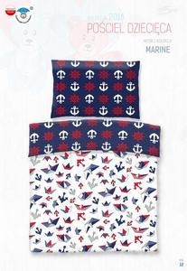 Pościel bawełniana 90x120 Marinero marynarska kotwice do łóżeczka - 2848015700