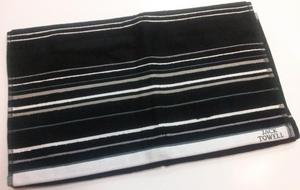 24466ba7e1a9b Ręcznik FR 1055 50x90 czarny 02 czarny w paski biało szare - 2850338313