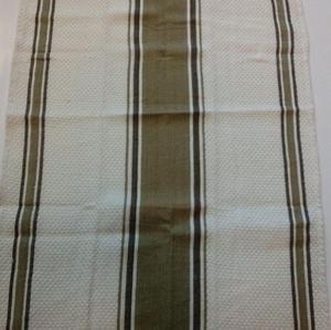 6de3a249b88a9 Ścierka do naczyń 50x70 gofrowana ekrii w paski brązowo oliwkowe -  2863976375