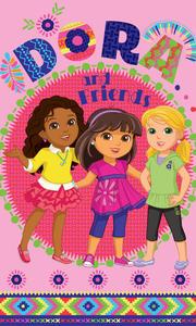 Ręcznik bawełniany 30x50 Dora i przyjaciółki różowy C 5617