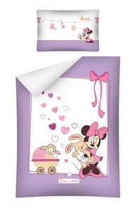 Pościel bawełniana 100x135 Myszka Mini 1649 Minnie Mouse STC 15 B do łóżeczka - 2856332422