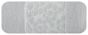 Ręcznik Gabi 50x90 srebrny 500 g/m2 kwiatki Eurofirany - 2877017764