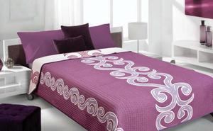 Narzuta dekoracyjna 220x240 Beni Krem+Fiolet Eurofirany - 2835591969