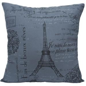 Poszewka dekoracyjna 45x45 Eiffel Szary - 2835592023