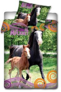 Pościel bawełniana 160x200 C Animal Konie AP 3016 0713 - 2833878832