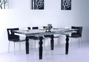 Stół Szklany Rozsuwany VENDOME, 3 kolory Szkło gięte - 2416525895