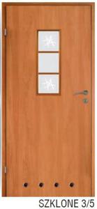 Drzwi wewnętrzne VOSTER BIANCO SZKLONE 3/5 - 2416527467