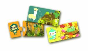 Puzzle edukacyjne DUO - puzzle gdzie śpią zwierzątka DJECO - 2833395217