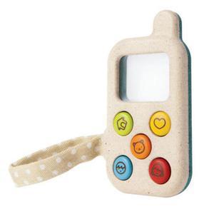Drewniany telefon komórka dla dziecka - Mój pierwszy telefon, Plan Toys PLTO-5674 - 2833395282