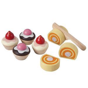 Ciasteczka akcesoria do cukierni i kuchni - zestaw do zabawy w sklep i gotowanie, Plan Toys - 2833395324
