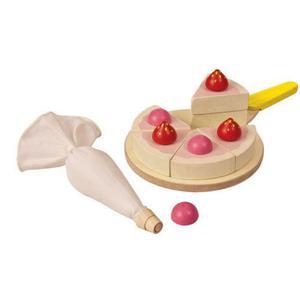 Tort, zestaw do zabawy w sklep i gotowanie, akcesoria do pieczenia tortu, Plan Toys - 2833395325