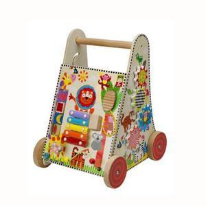 Chodzik aktywności - chodzik pchacz dla dzieci z elementami aktywizującymi DŻUNGLA, ALEX - 2833395364