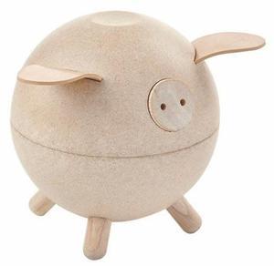 Drewniana świnka skarbonka - skarbonka dla dzieci o nowoczesnym designie, ekologiczna Plan Toys - 2833395510