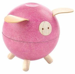 Drewniana świnka skarbonka - skarbonka dla dzieci o nowoczesnym designie, ekologiczna Plan Toys - 2833395511