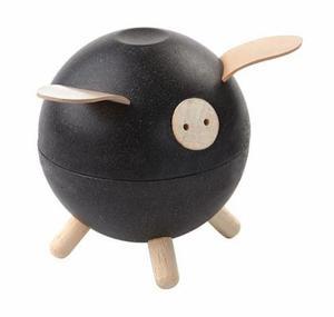Drewniana świnka skarbonka - skarbonka dla dzieci o nowoczesnym designie, ekologiczna Plan Toys - 2833395512