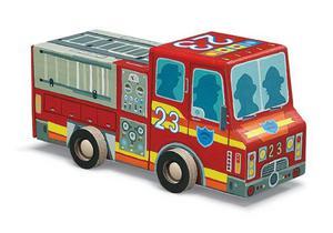Puzzle Straż pożarna - puzzle wóz strażacki dla dzieci 4 lata+, Crocodile Creek - 2833395522