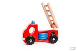Drewniana straż pożarna - drewniany samochód, auto dla strażaka, BAJO - 2833395576
