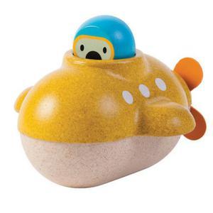 Drewniana zabawka do kąpieli, do wanny - łódź podwodna Plan Toys - 2833395596