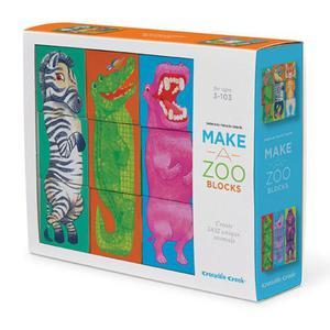 Klocki, układanka zwierzęta - zbuduj własne ZOO, baw się ze zwierzakami!, Crocodile Creek - 2833395612