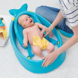 Wanienka do kąpieli dla noworodka i niemowlaka - wanienka + akcesoria Wieloryb MOBY, SKIP HOP - 2834514435