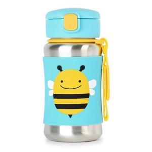 Stalowy bidon ze słomką dla dzieci - stal nierdzewna, Pszczoła Zoo, SKIP HOP - Pszczoła - 2833395628