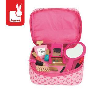 Kosmetyczka z akcesoriami małej Miss - kosmetyczka z drewnianymi akcesoriami, Janod J06514 - 2853175109