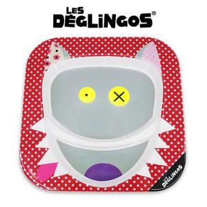 Talerz z melaminy Wilk Bigbos - talerz dwudzielny 22cm, Les Deglingos 55110 - Wilk Bigbos - 2842157868