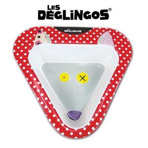Miseczka do jedzenia dla dzieci z melaminy Wilk Bigbos, Les Deglingos - Wilk Bigbos - 2842858994