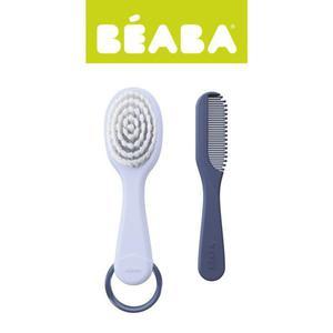 Szczoteczka do włosów i grzebień dla niemowląt - do czesania dla małych dzieci, mineral, BEABA - 2853175321