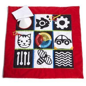Czerwono czarno biała mata edukacyjna dla niemowląt - kontrastowa mata rozwojowa Manhattan Toy - 2875300767
