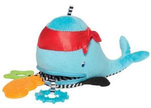Sensoryczny wieloryb z chowanymi gryzakami dla niemowląt, Manhattan Toy - 2845960009