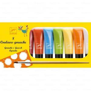 Farby gwasze klasyczne w tubkach 8 szt. - farby akwarelowe kryjące, DJECO DJ09746