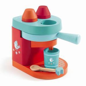 Drewniany ekspres do kawy na kapsułki - ekspres do zabawy dla dzieci, DJECO - 2833395198