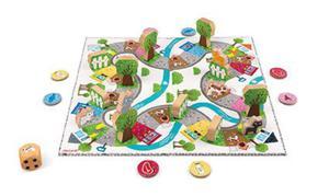 Gra planszowa strategiczna, plansza + figurki wyścig Koty, JANOD - 2853175778